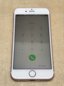 iPhone6s ガラス割