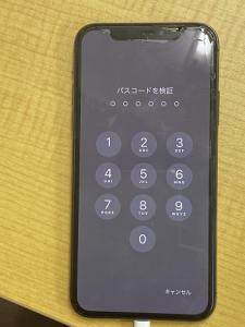 iPhone Repair 起動不良 パスコードを検証